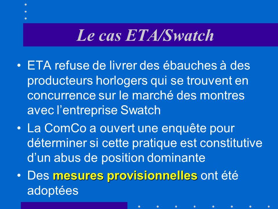 Le cas ETA/Swatch