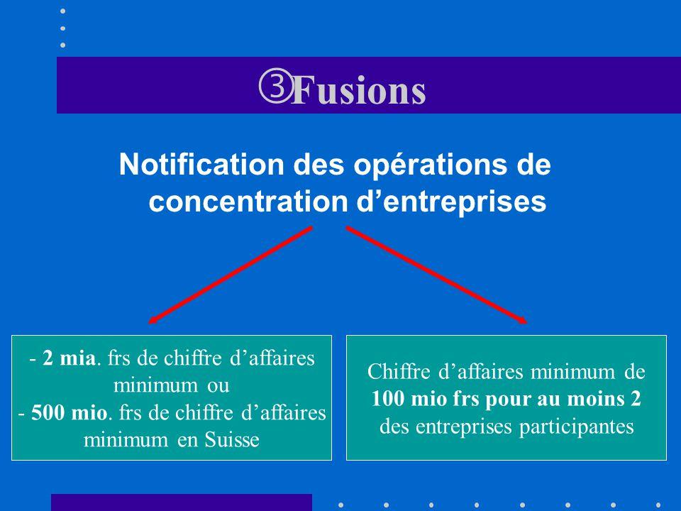 Notification des opérations de concentration d'entreprises