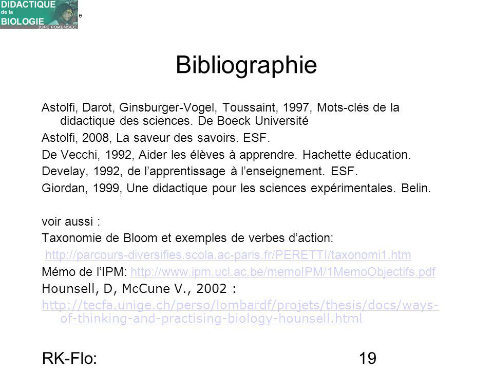 Bibliographie RK-Flo: 17/10/10