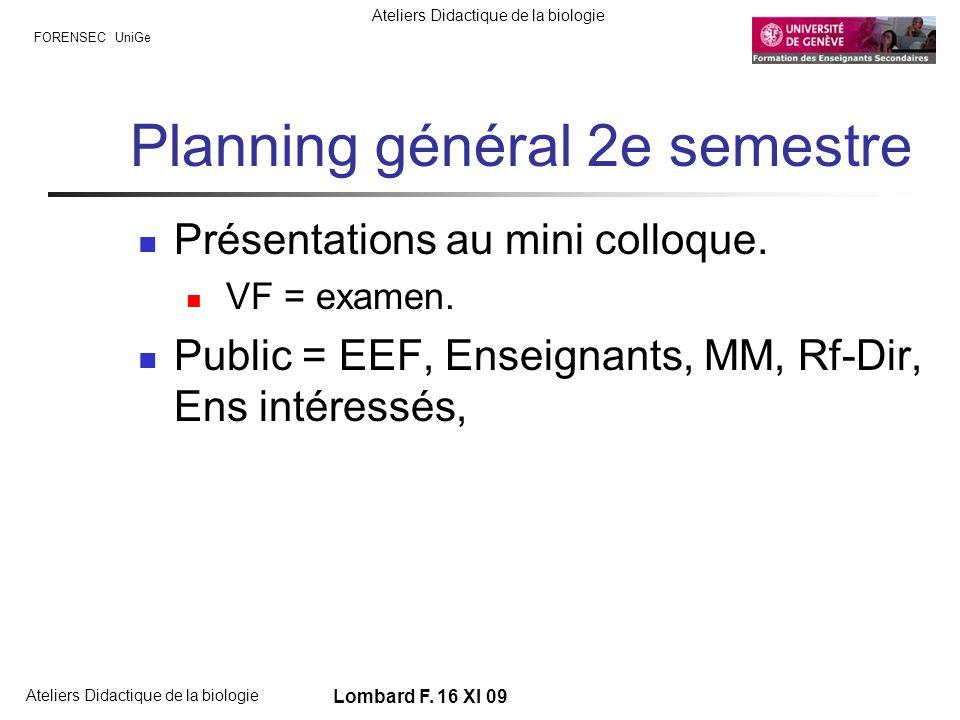 Planning général 2e semestre