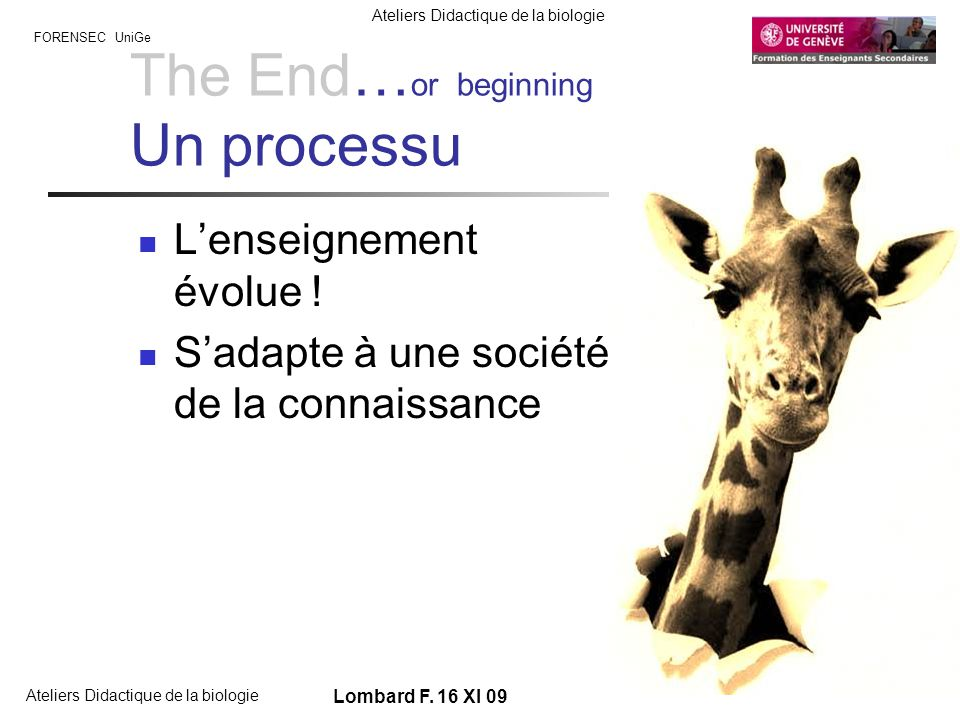 The End…or beginning Un processu