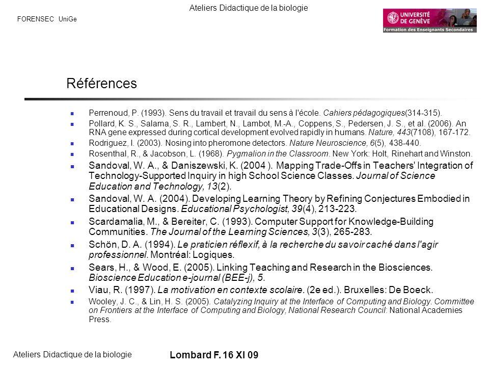 Références Perrenoud, P. (1993). Sens du travail et travail du sens à l école. Cahiers pédagogiques(314-315).