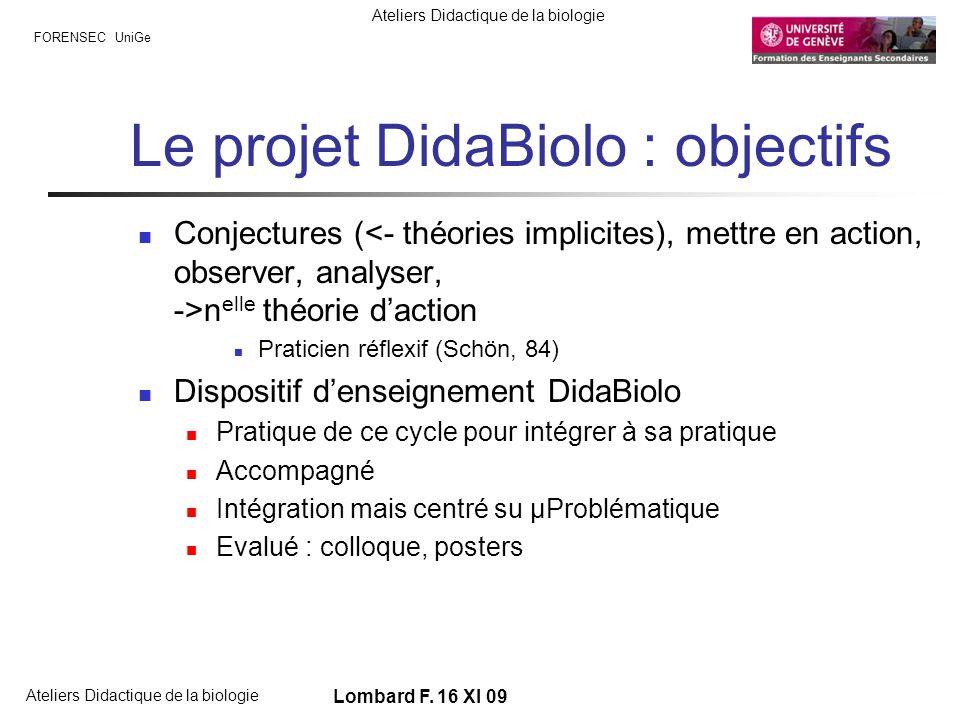 Le projet DidaBiolo : objectifs