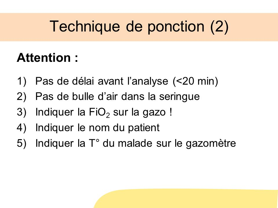 Technique de ponction (2)