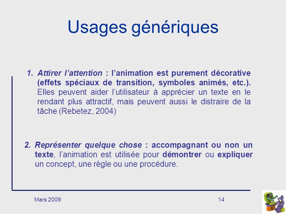 Usages génériques