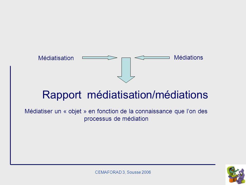 Rapport médiatisation/médiations