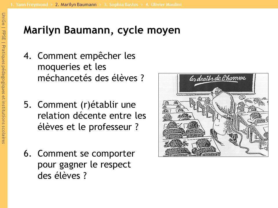 Marilyn Baumann, cycle moyen