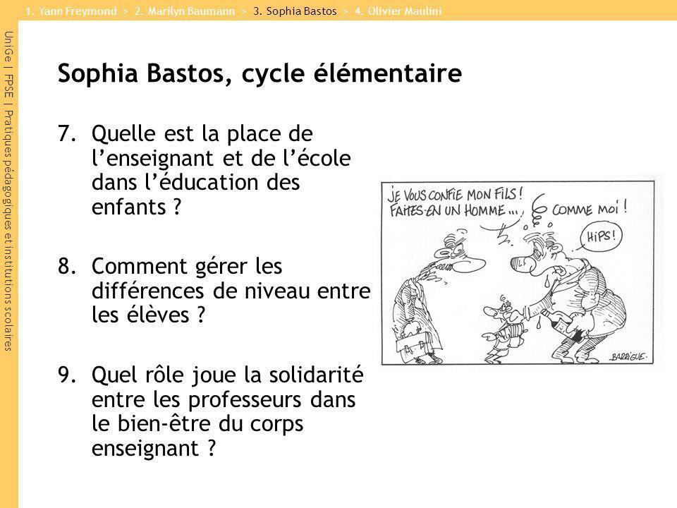 Sophia Bastos, cycle élémentaire