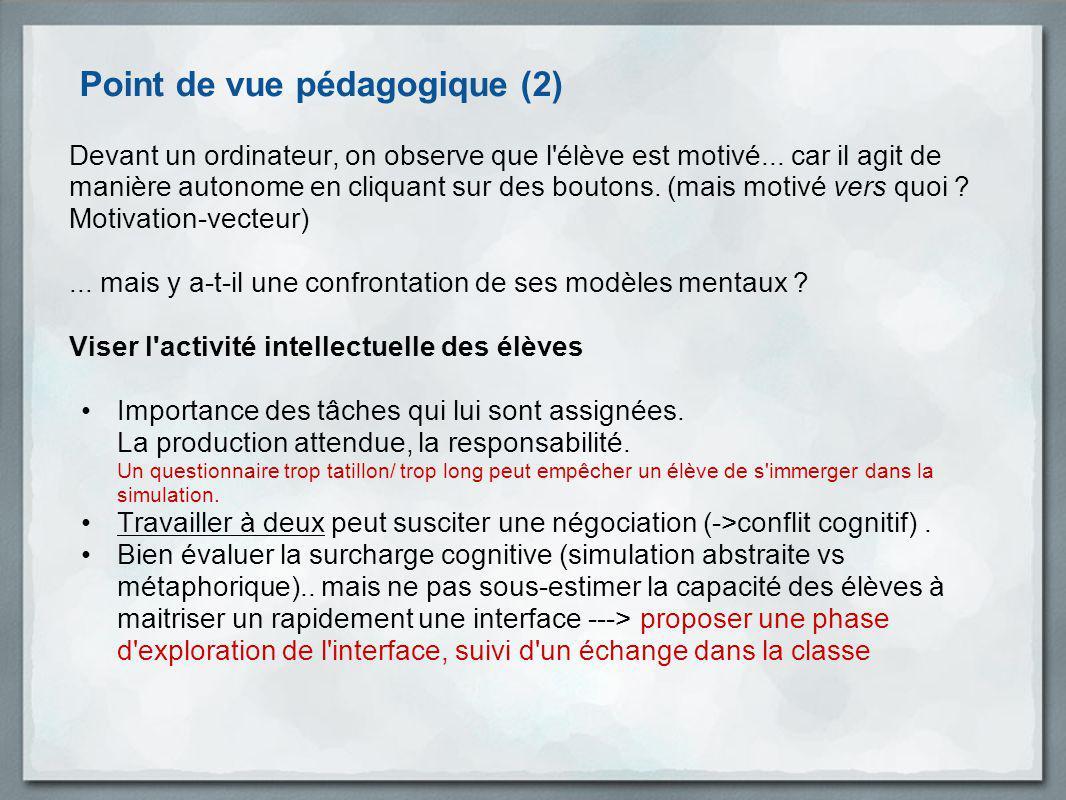 Point de vue pédagogique (2)