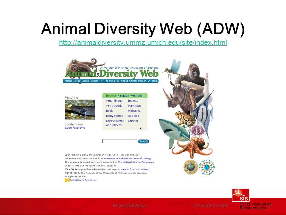 Animal Diversity Web (ADW) http://animaldiversity. ummz. umich