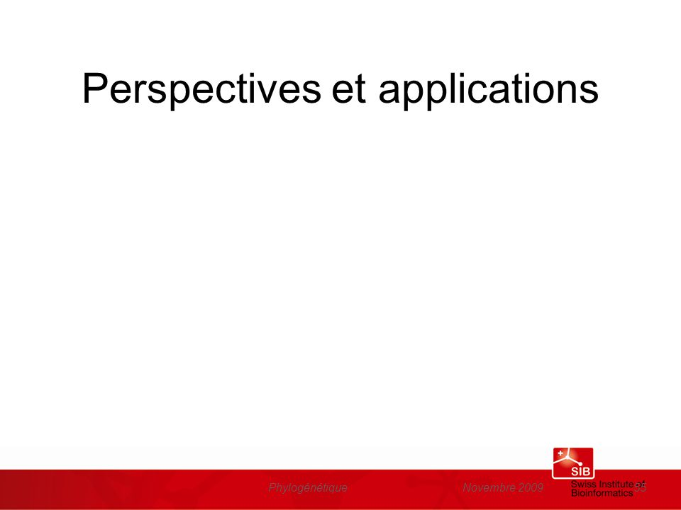 Perspectives et applications