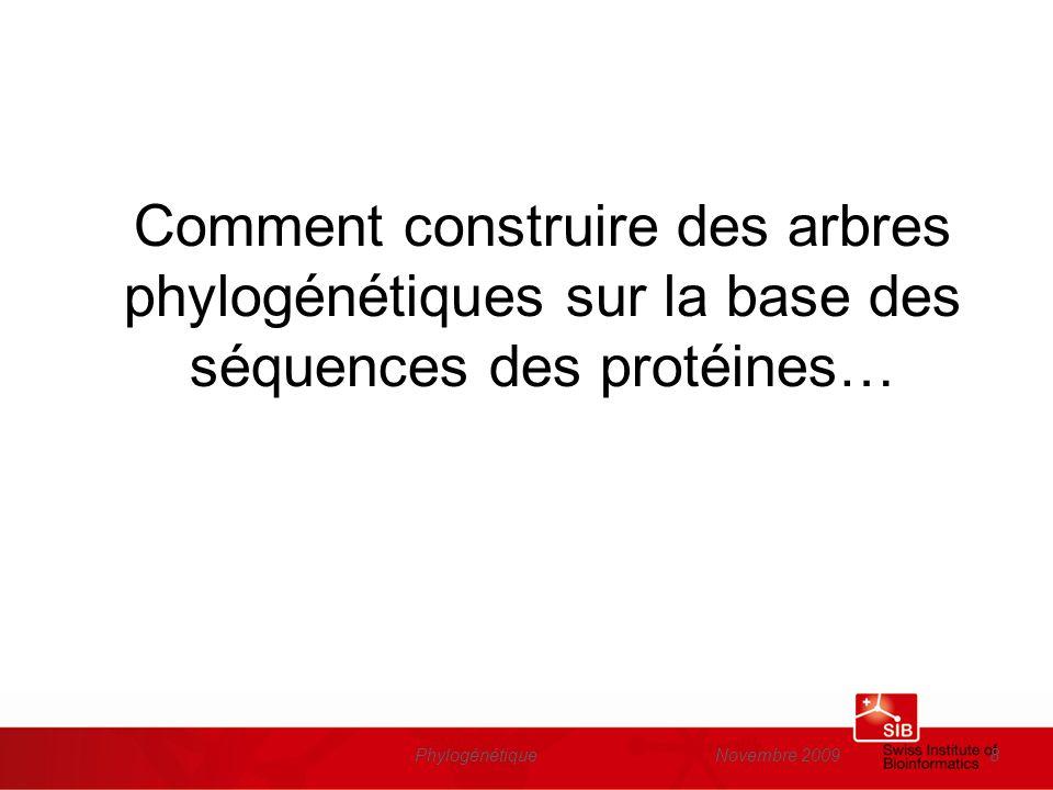Comment construire des arbres phylogénétiques sur la base des séquences des protéines…
