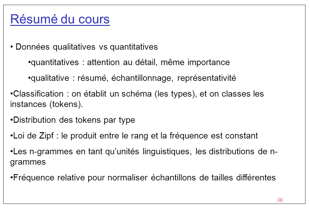 Résumé du cours Données qualitatives vs quantitatives