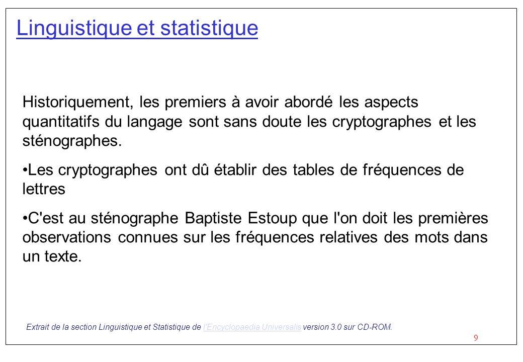 Linguistique et statistique