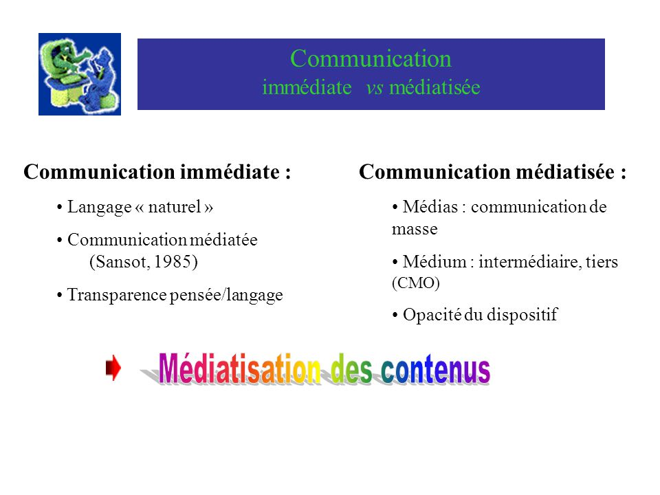 Communication immédiate vs médiatisée