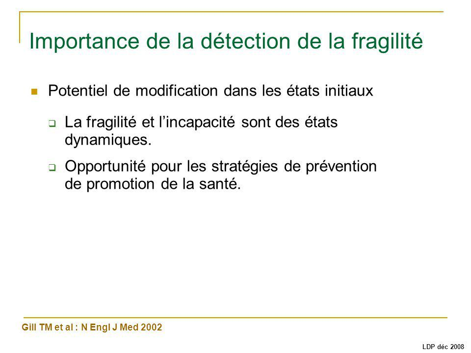 Importance de la détection de la fragilité