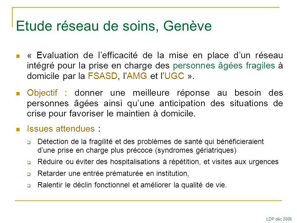 Etude réseau de soins, Genève