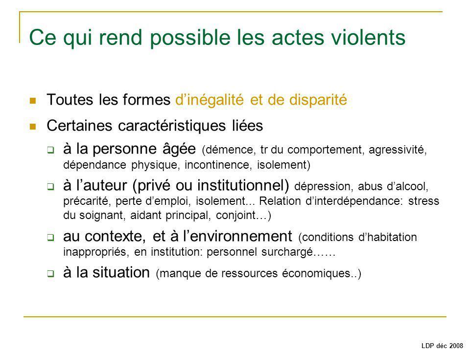 Ce qui rend possible les actes violents