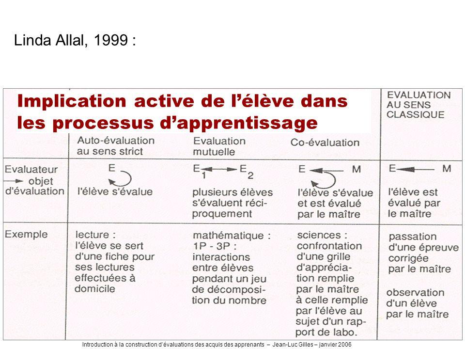 Implication active de l'élève dans les processus d'apprentissage