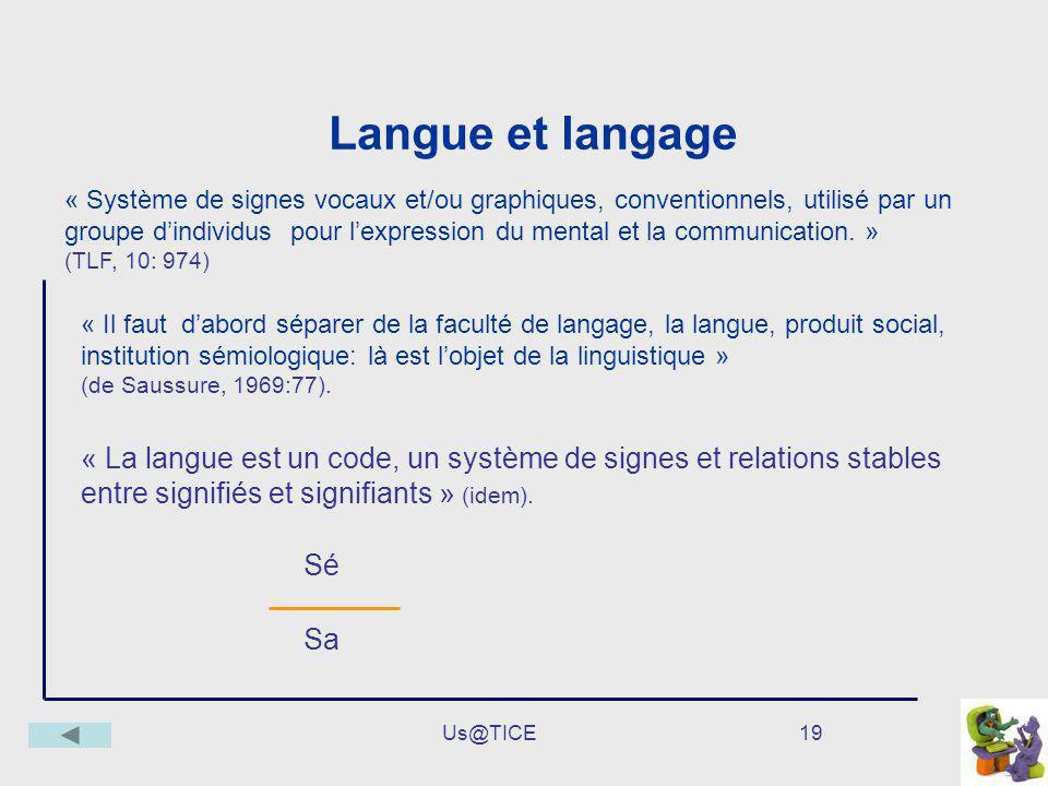 Langue et langage