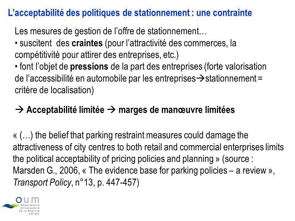 L'acceptabilité des politiques de stationnement : une contrainte
