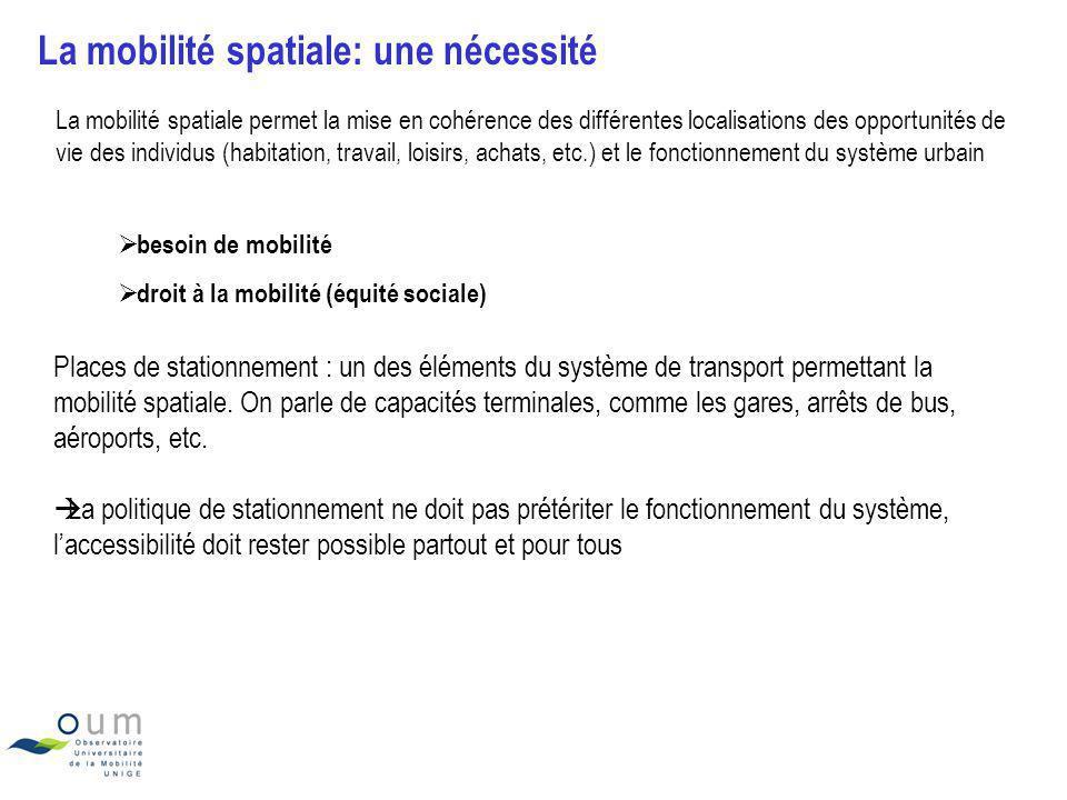 La mobilité spatiale: une nécessité