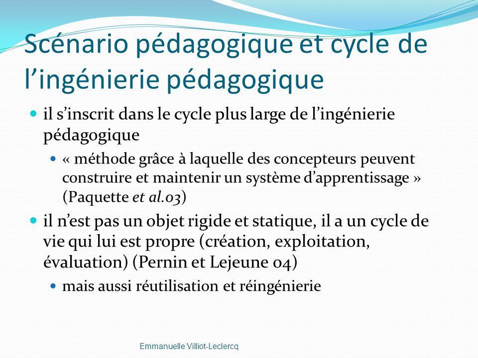 Scénario pédagogique et cycle de l'ingénierie pédagogique