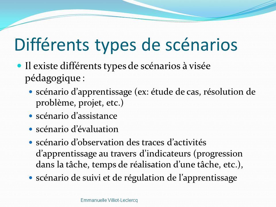 Différents types de scénarios
