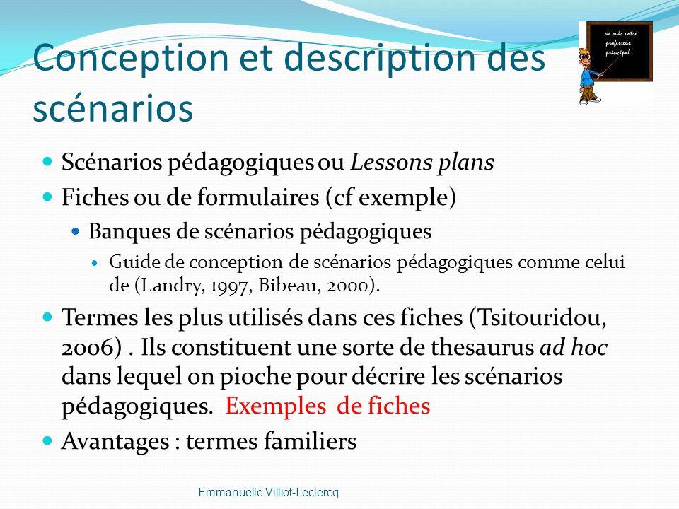 Conception et description des scénarios
