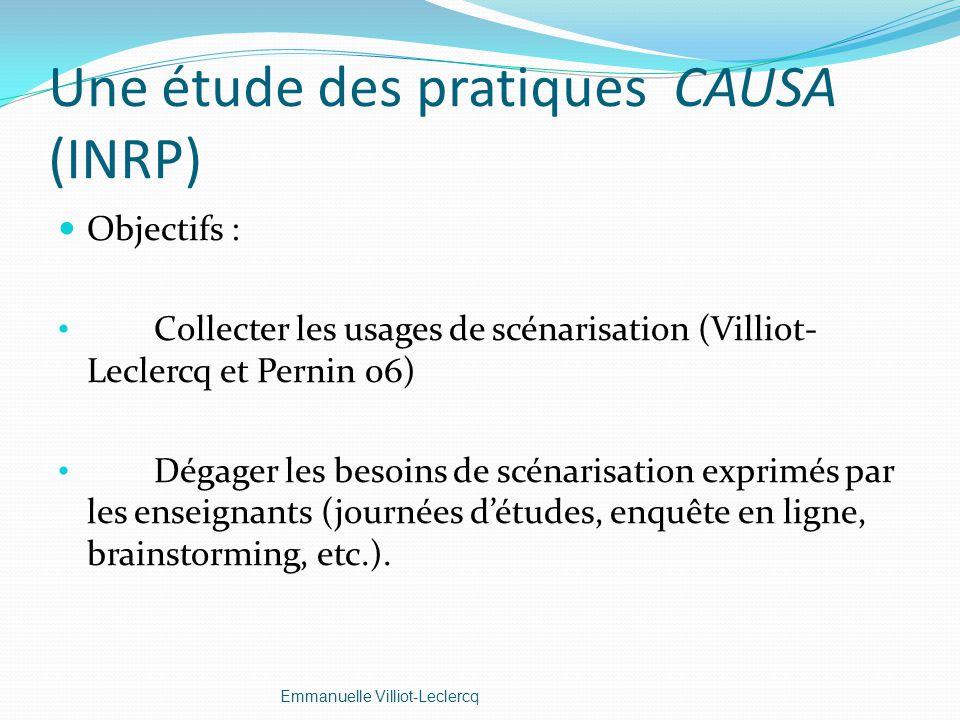Une étude des pratiques CAUSA (INRP)