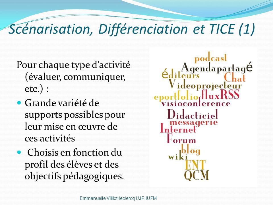 Scénarisation, Différenciation et TICE (1)