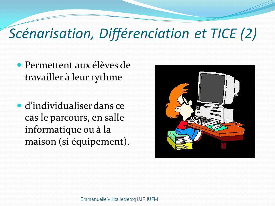 Scénarisation, Différenciation et TICE (2)