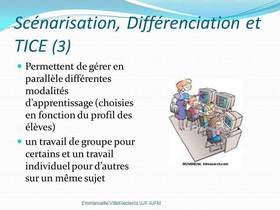 Scénarisation, Différenciation et TICE (3)