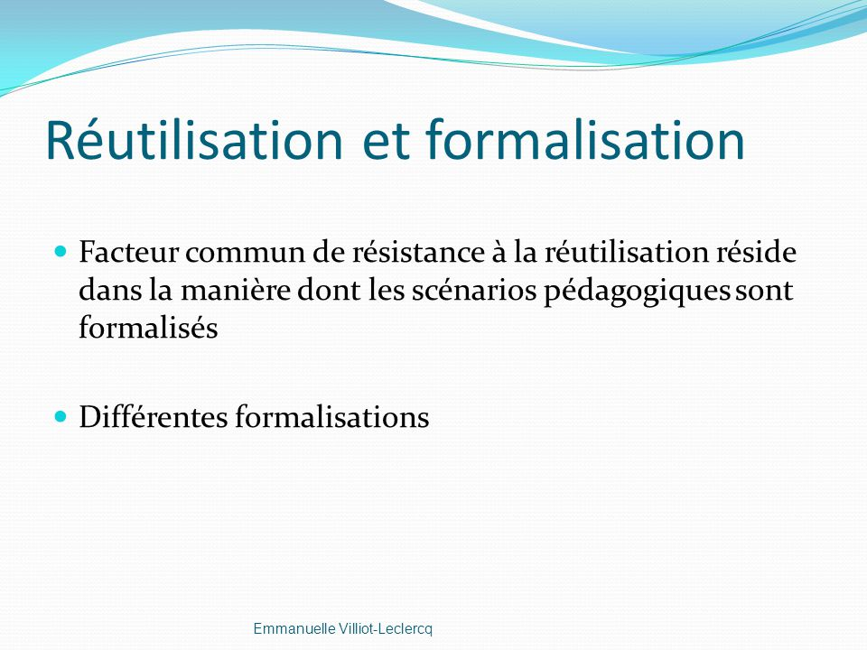 Réutilisation et formalisation