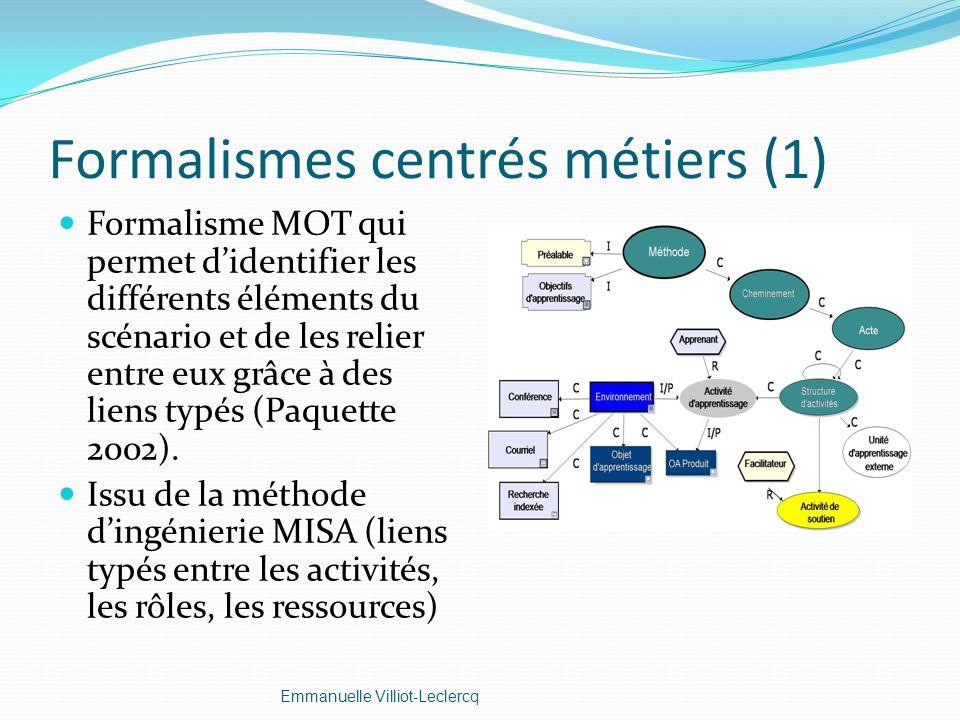 Formalismes centrés métiers (1)