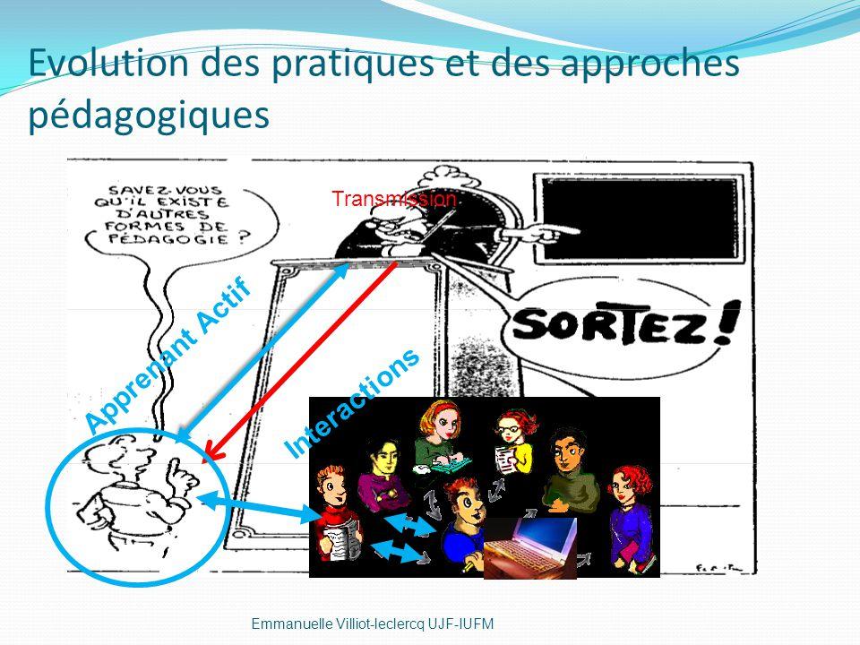 Evolution des pratiques et des approches pédagogiques
