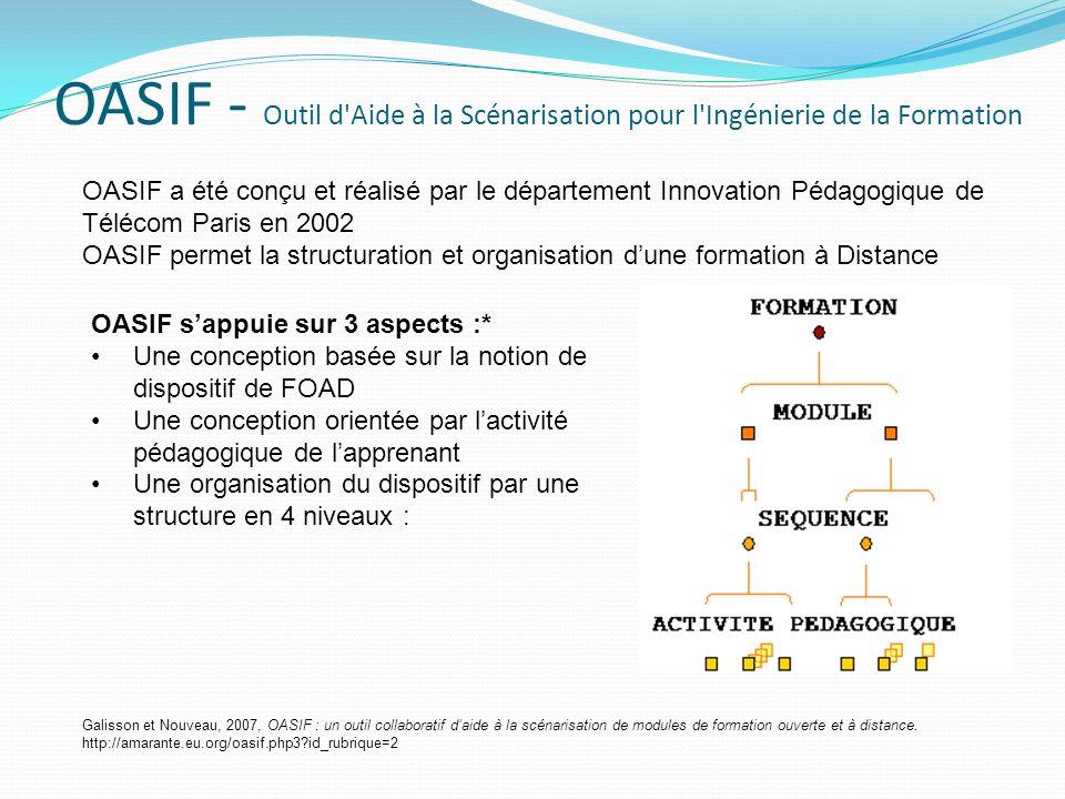 OASIF - Outil d Aide à la Scénarisation pour l Ingénierie de la Formation