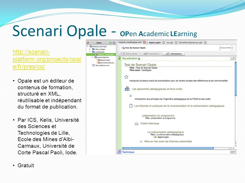 Scenari Opale - OPen Academic LEarning