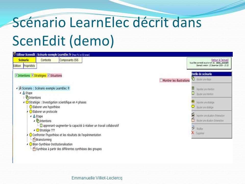 Scénario LearnElec décrit dans ScenEdit (demo)