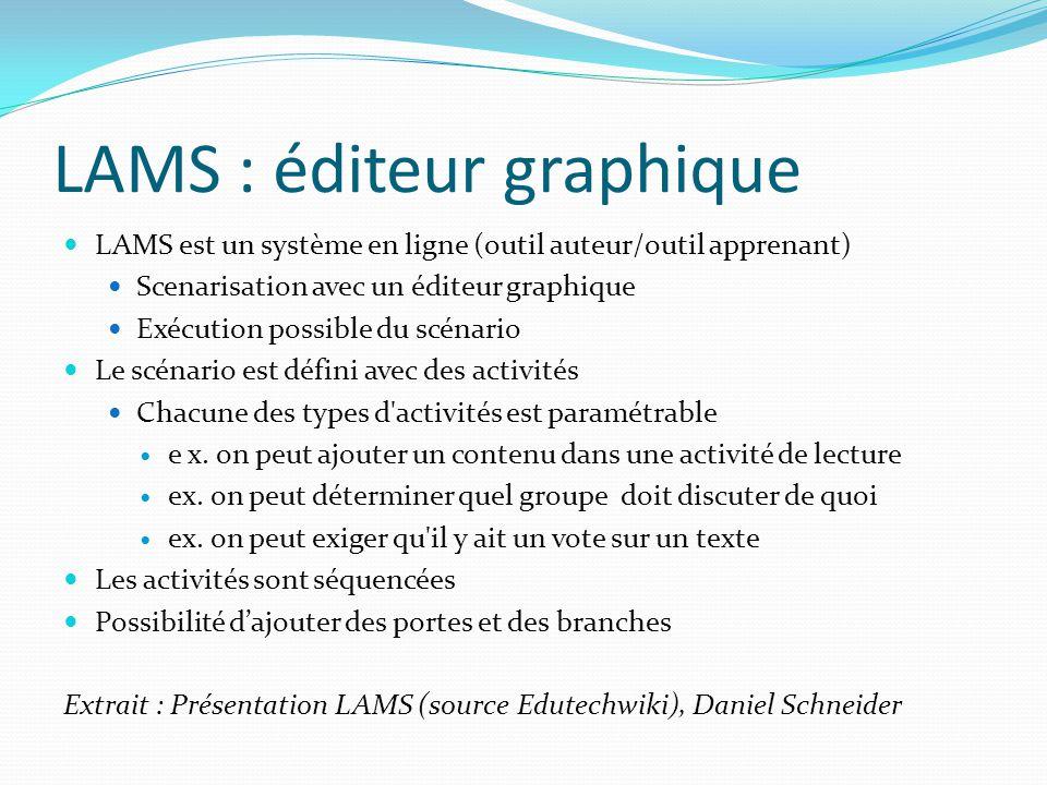 LAMS : éditeur graphique