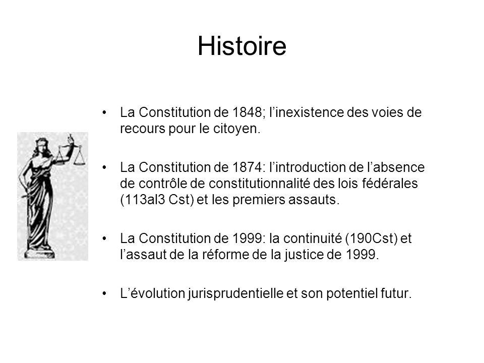 Histoire La Constitution de 1848; l'inexistence des voies de recours pour le citoyen.