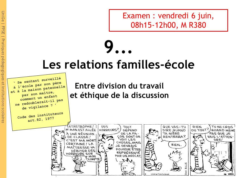 9... Les relations familles-école