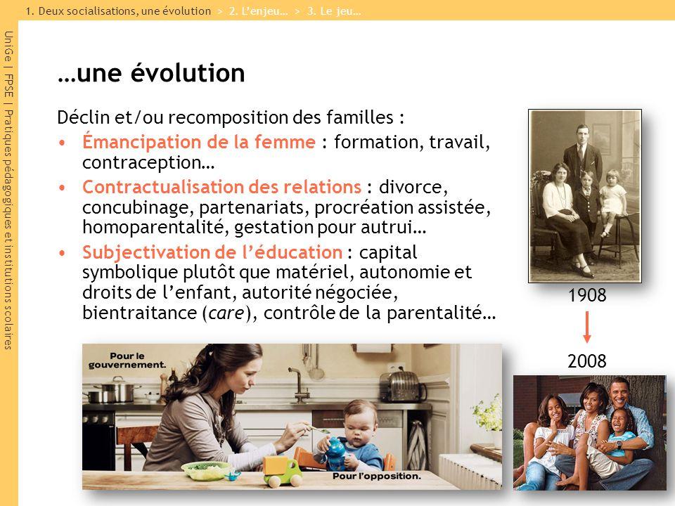 …une évolution Déclin et/ou recomposition des familles :