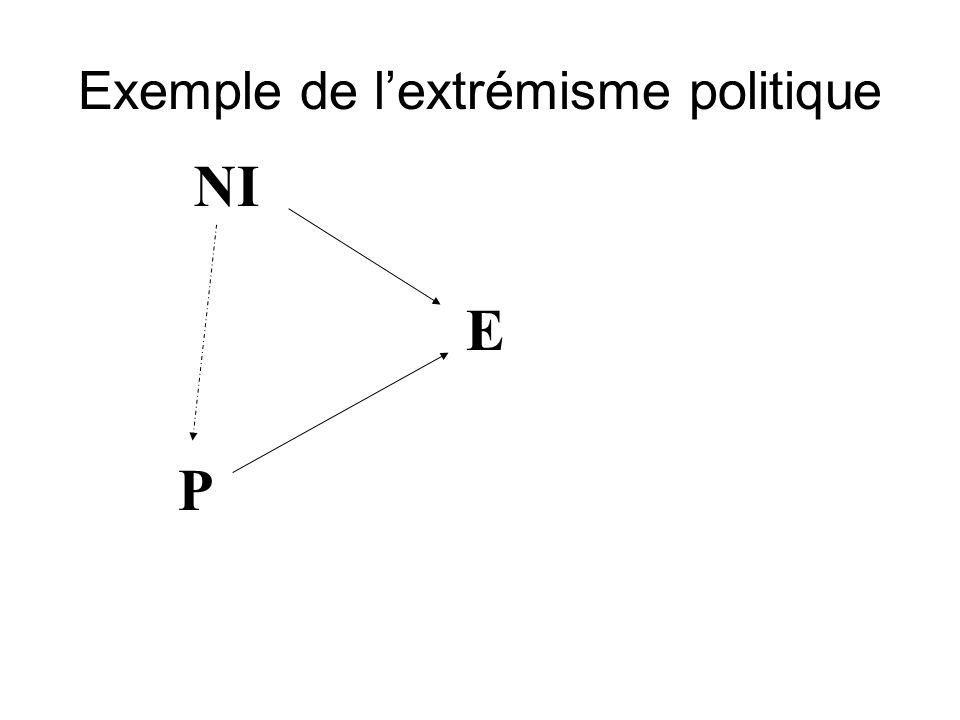 Exemple de l'extrémisme politique