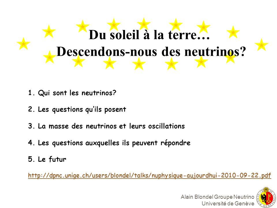 Descendons-nous des neutrinos