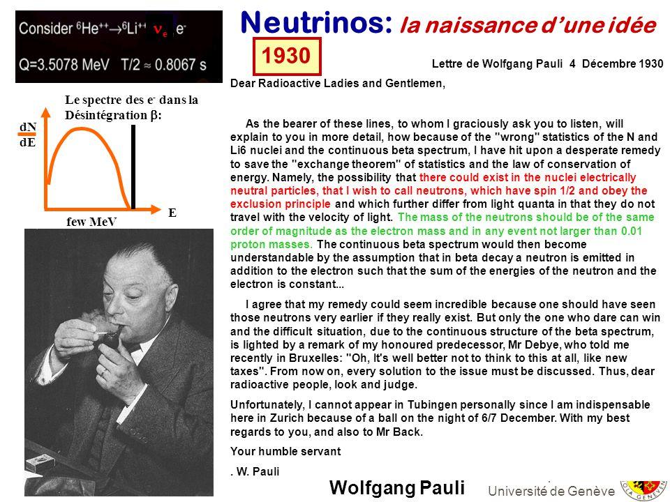 Neutrinos: la naissance d'une idée