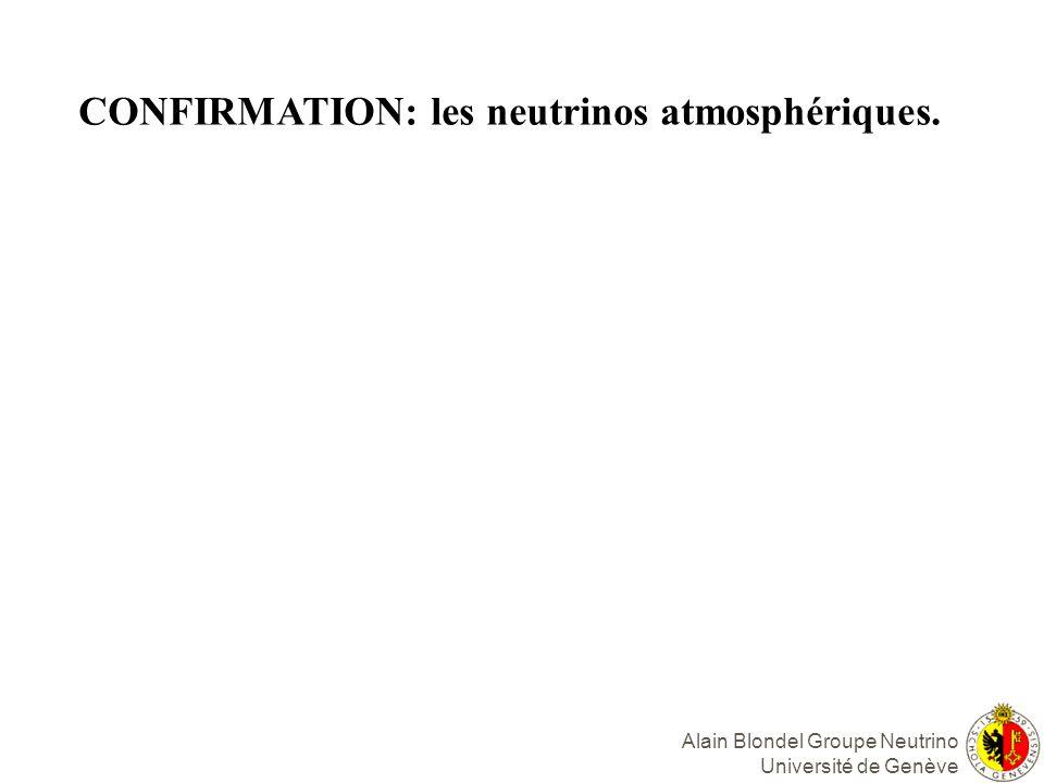 CONFIRMATION: les neutrinos atmosphériques.