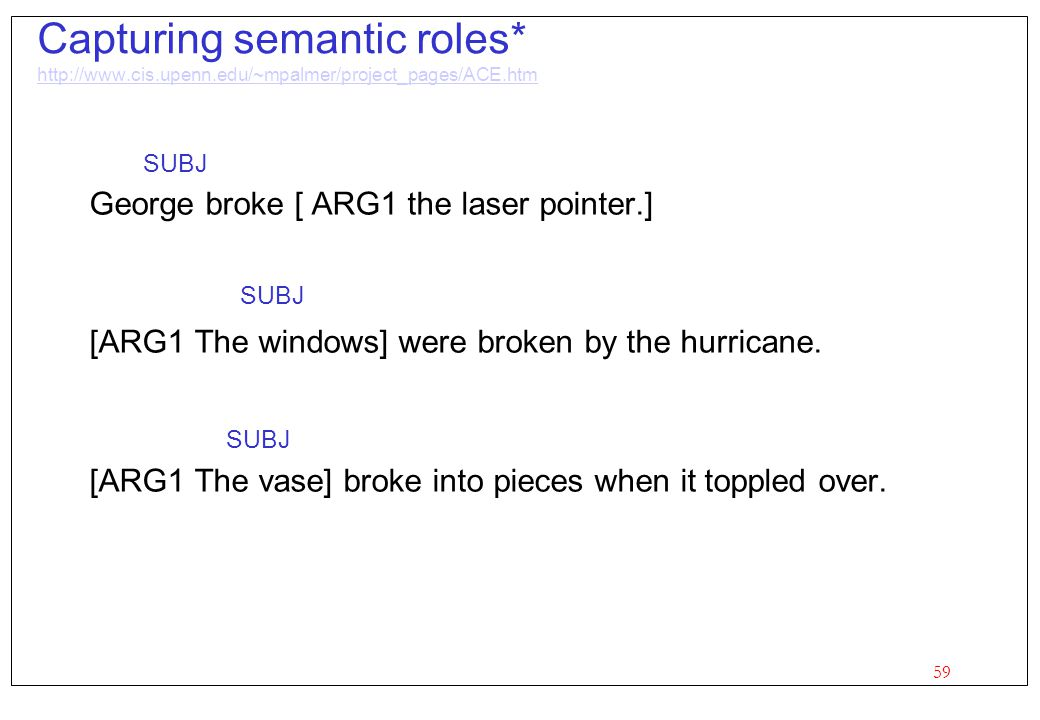 Capturing semantic roles. http://www. cis. upenn