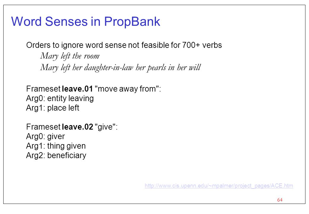 Word Senses in PropBank