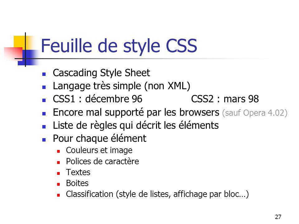 Feuille de style CSS Cascading Style Sheet